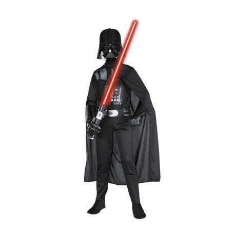 Disfraz Darth Vader compuesto por traje completo del villano, capa más máscara. ¡Conviértete en el malo malísimo de Star Wars!