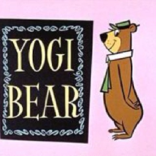 Yogi Bear Cartoon. Boo-boo was the little bear and they were always talking about Jellystone Park and picnic baskets.
