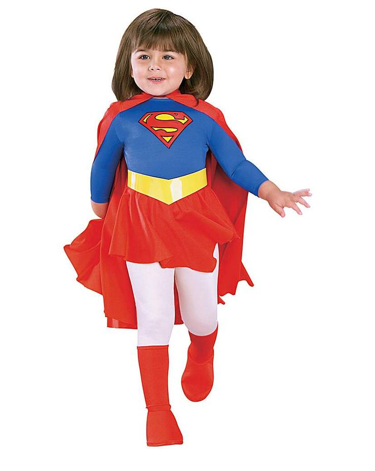 Girls Traditional Supergirl Costume: Girls Traditional Supergirl Costume Girls traditional style Supergirl costume. Contains jumpsuit with…