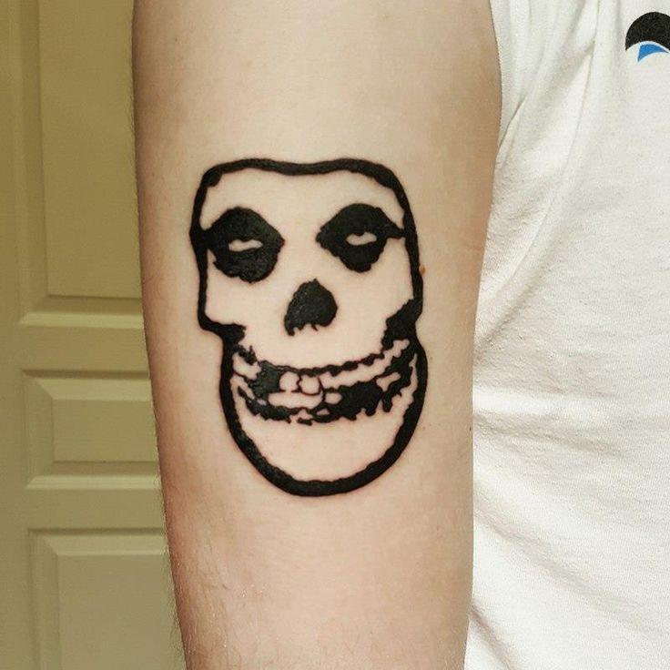My first tattoo Misfits Fiend Skull - Austin Delemont - Adrenaline Vancity