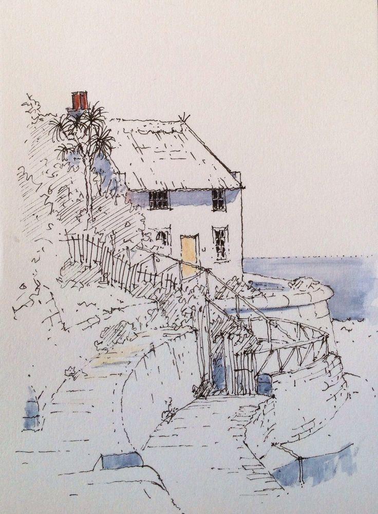 Runswick Bay ~ sketch ~ John Edwards