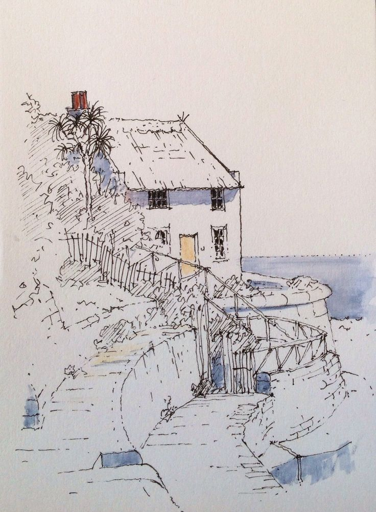 Runswick Bay ~ sketch ~ John Edwards