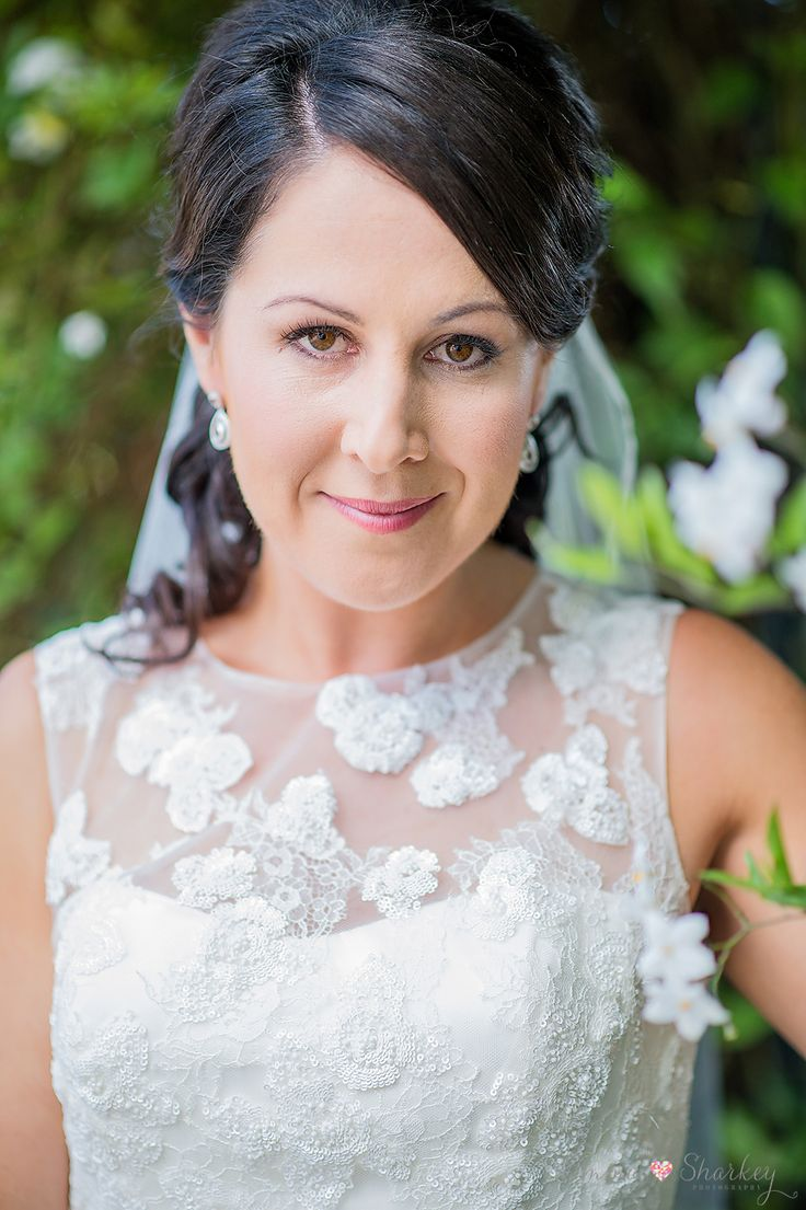 Gorgeous Tracy on her wedding day. What a beautiful bride, love her wedding hair
