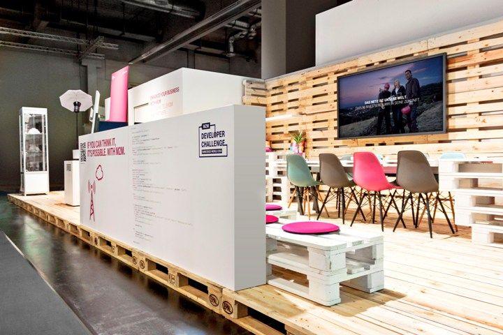 Exhibition Stand Installation : Deutsche telekom stand by hartmannvonsiebenthal nuremburg