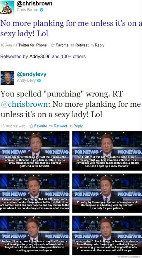 Although I don't typically watch Fox News... I tip my hat to Andy Levy.