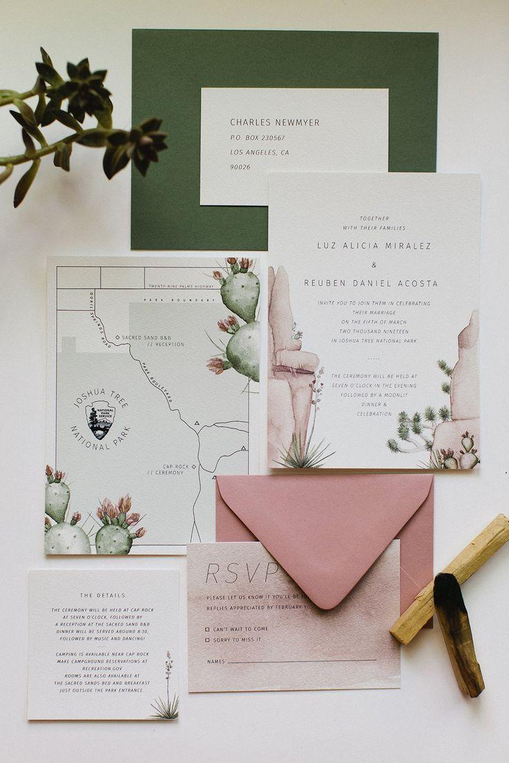 Invitations reception Map wedding card watercolor