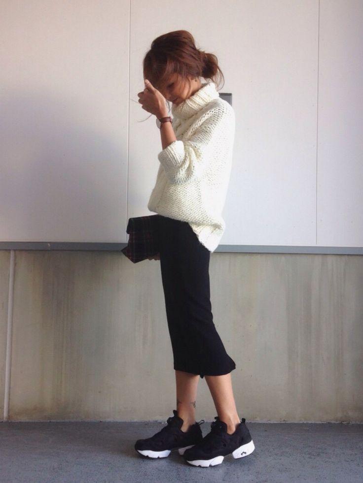 kayoさんのニット/セーター「Ameri ANN'S CABLE TURTLE KNIT」を使ったコーディネート