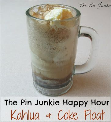 The Pin Junkie: Happy Hour #10 Kahlua & Coke Ice Cream Float