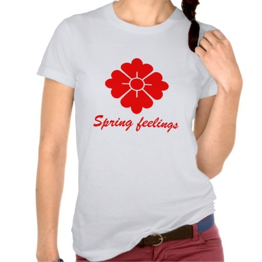 Flower shape design tshirt - Customizable, you can change the text, change the font (style), color, position etc.
