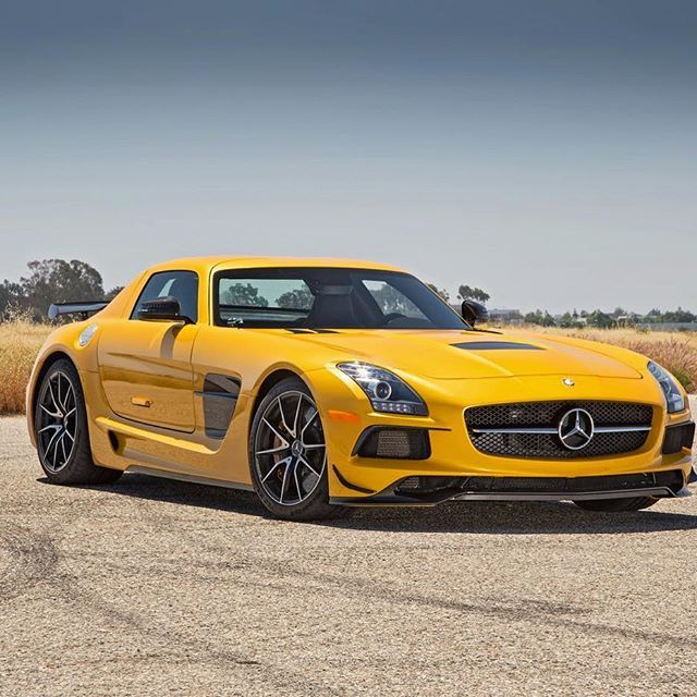 "AMG. Driven By The Inner Force. SLS AMG Black Series ""The Ultimate Weapon"". The SLS AMG Coupé Black Series accelerates to 100 km/h in 3.6 seconds. The top speed stands at 315 km/h. The Mercedes-AMG M159 6.2L V8 N/A engine generating a power output of 631hp and 635Nm of Torque. This numbers stand for thrilling driving dynamics and making the SLS AMG Coupé Black Series one of the most powerful AMG High Performance cars ever. Mercedes-AMG One man, one engine Handcrafted by Michael Kübler…"