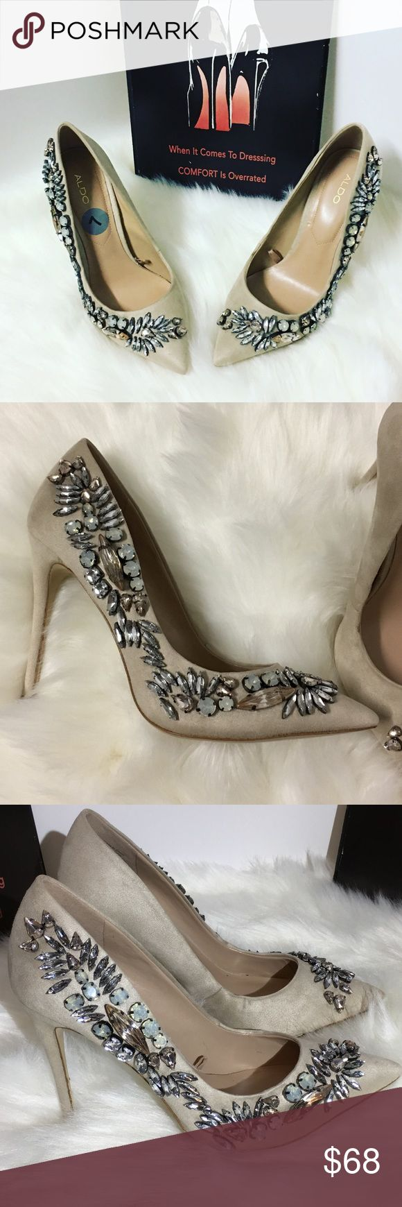 Last price reduction. Aldo heels Brand: aldo Style: rhinestone pump Color: nude  Heel height: 4 inches Size: 7  Condition: new with out tags Aldo Shoes Heels