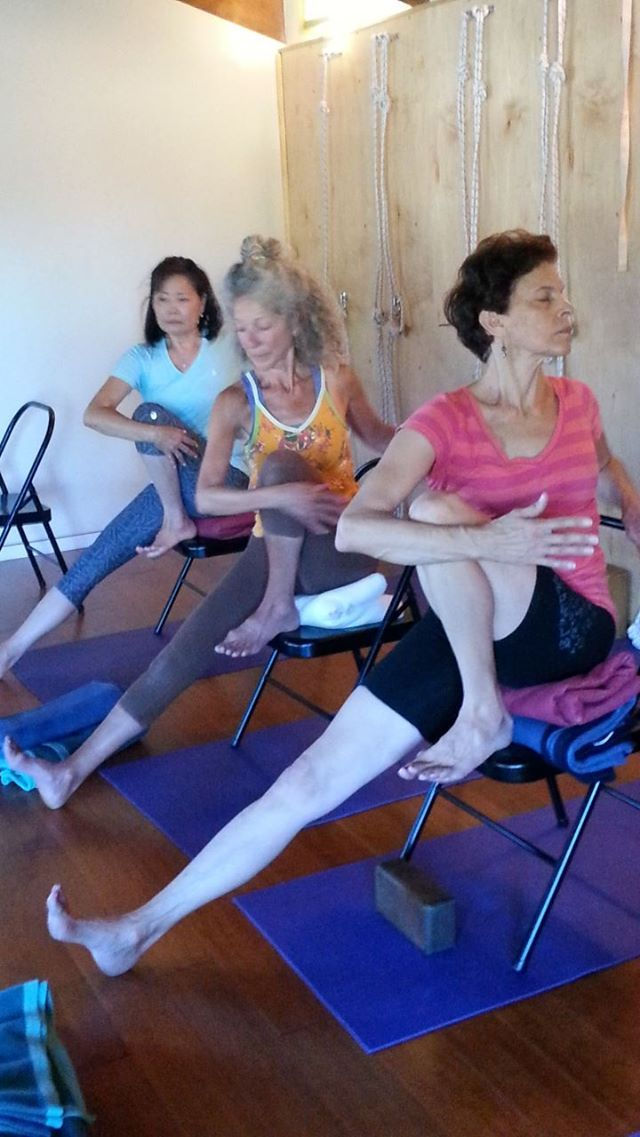 Marichyasana 3 | Chair yoga, Chair pose yoga, Yoga everyday