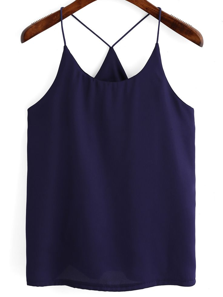 Shop Navy Spaghetti Strap Loose Cami Top online. SheIn offers Navy Spaghetti Strap Loose Cami Top & more to fit your fashionable needs.