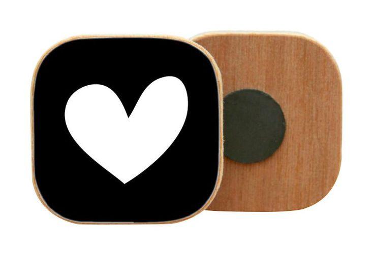 Dots Lifestyle Magneet hart zwart