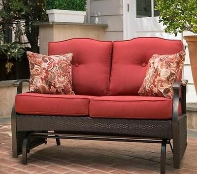 Outdoor Glider Bench Garden Loveseat Patio Furniture Porch Deck Seat Lawn  Chair
