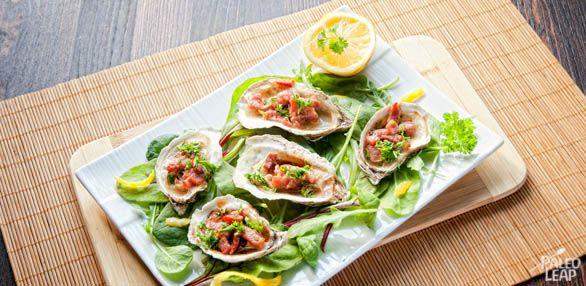 Oyster's Kilpatrick - yum!