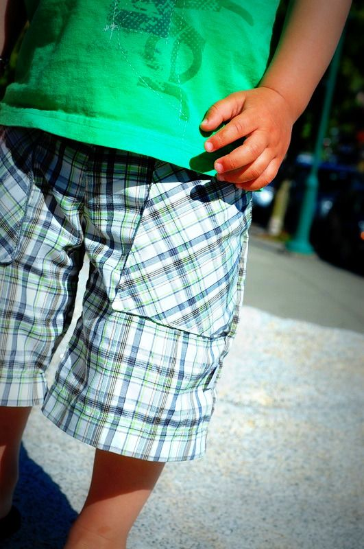 toddler shorts out of old shirt...