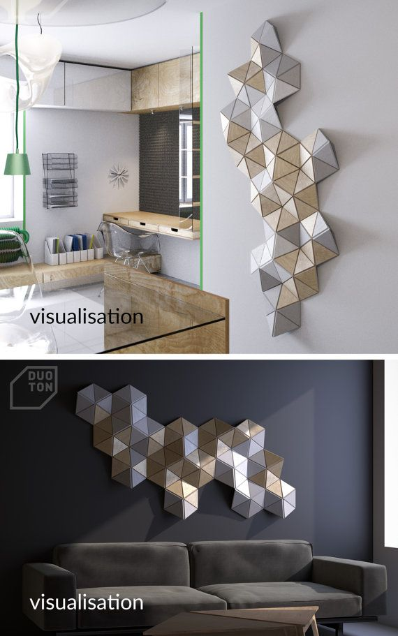 CELL  15 pcs. wall sculpture / Decor / Pattern / Geometric /