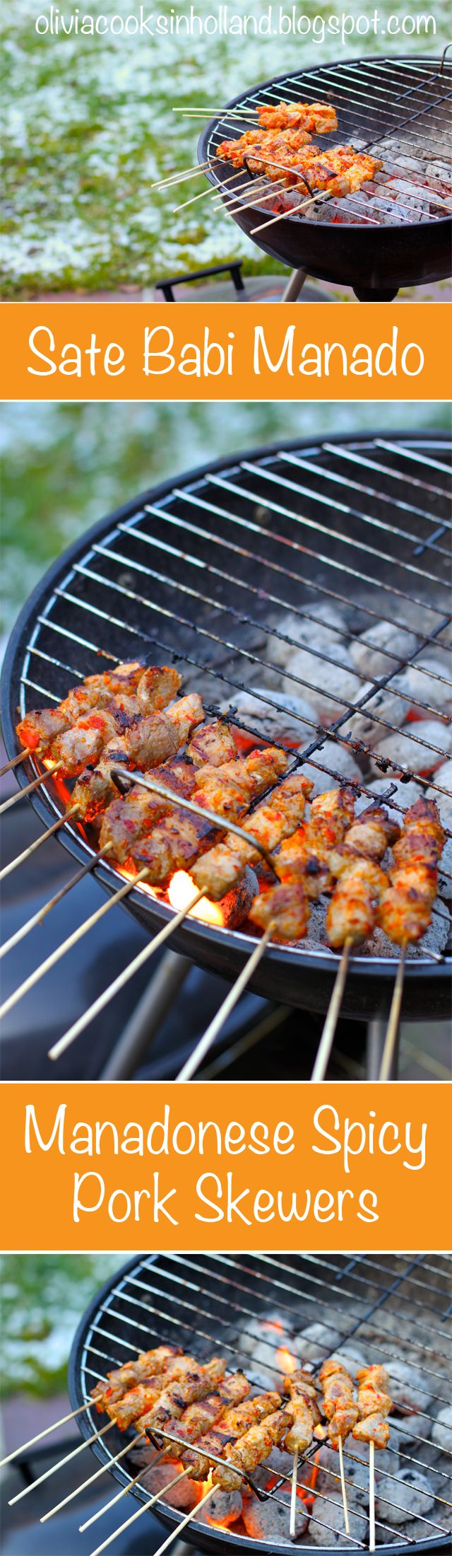 This pork satay is a recipe to save for summer barbecue, it's different from your barbecue sauce which are usually sweet. This one is spicy! And pairs great with a cold beer :)