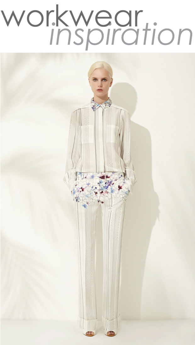 from the 3.1 Philip Lim Resort 2013 CollectionPrints Ideas, 9To5Chic, Aodai Ao, Floral Strips, Continuous Prints, Http Aodai864 Blogspot Com