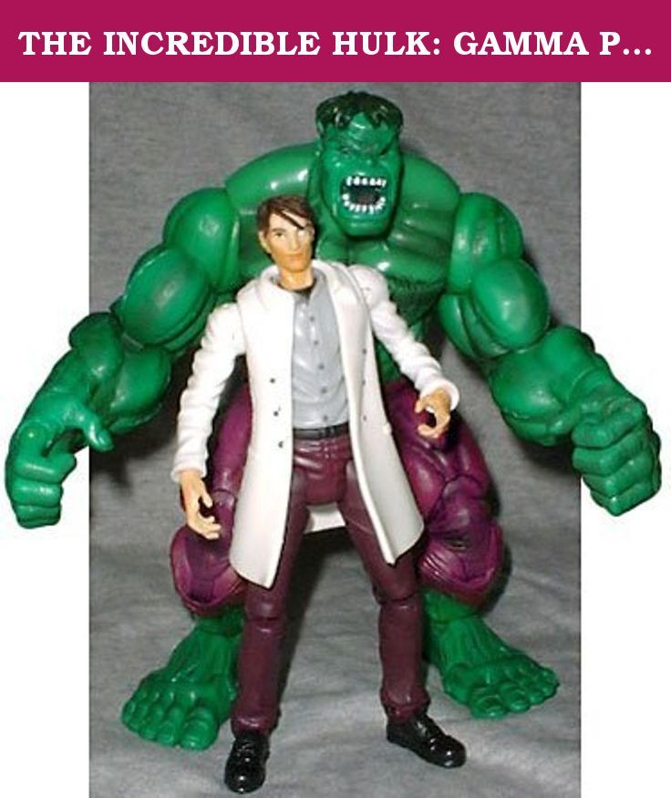 THE INCREDIBLE HULK: GAMMA PUNCH HULK WITH PUNCHING ACTION AND BRUCE BANNER FIGURE by AFLOT-TOY-GMMPNCHHLK-086892708064-N. Part of a separate Incredible Hulk line issued after the first Hulk movie, this Hulk was the first to include a separate Bruce Banner figure. Big, green, mean, and bursting with attitude, this figure includes the incredible articulation the Toy Biz Marvel Legends line was known for and is a worthy addition to those lines. This figure puts some meaning into Hulk Smash!.