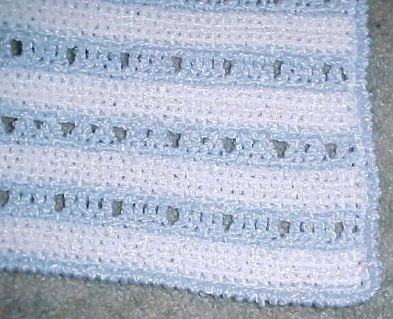 Ashley's Baby Afghan Crochet Pattern courtesty of Crochet 'N' More  http://www.crochetnmore.com  (This is the afghan I will crochet for my new baby cousin)