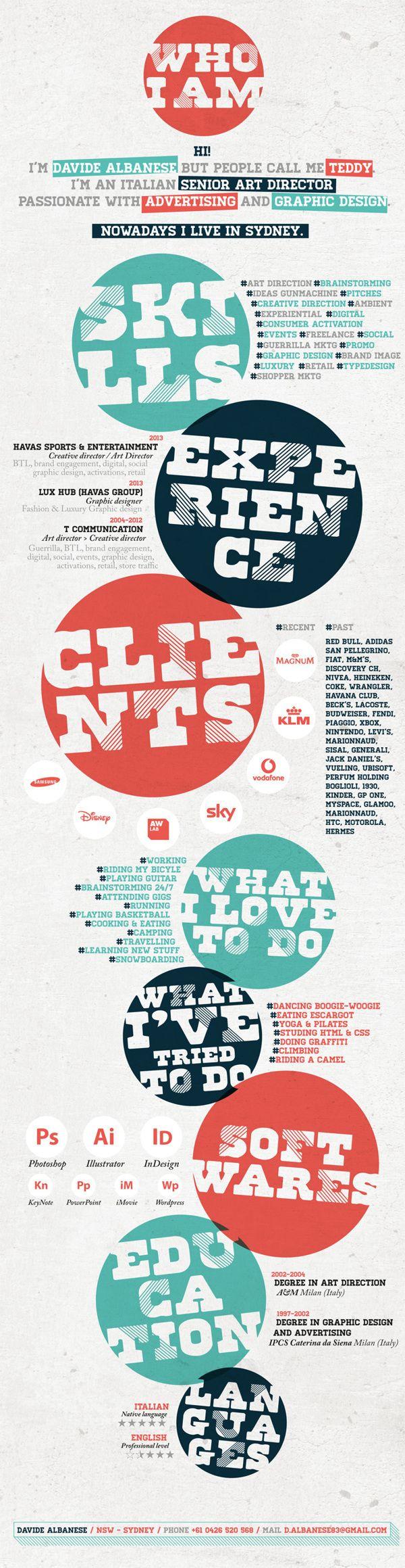 18 best Resume Design images on Pinterest | Resume design, Design ...