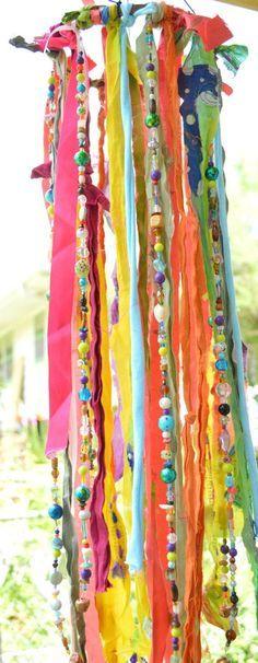 "The ""Boho Jellyfish"" - Wind Chime, Mobile, Garden Art, Bohemian Garland"