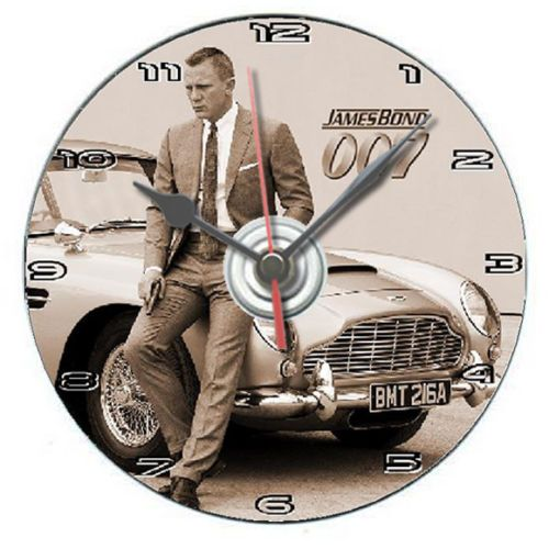 James Bond 007 Aston Martin dvd clock personalised gift boxed with display stand | eBay