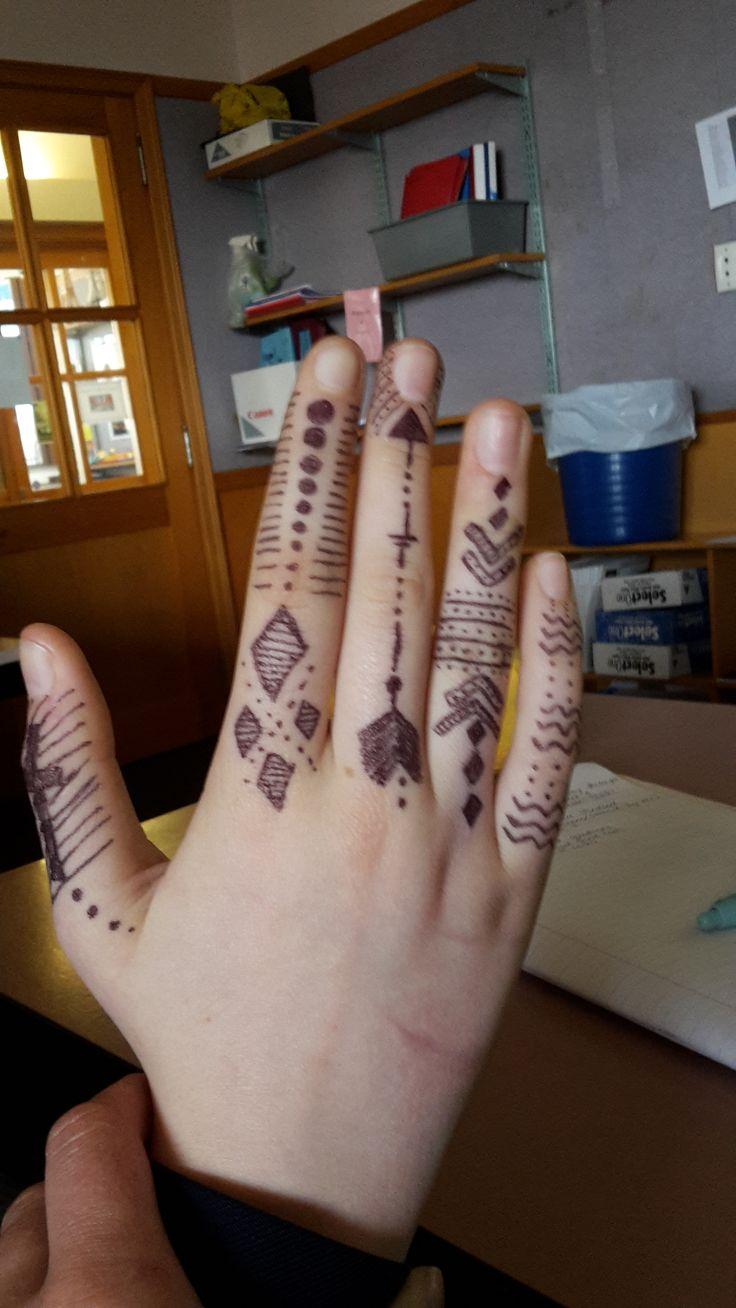 i drew this on Alysha-Jo's hand