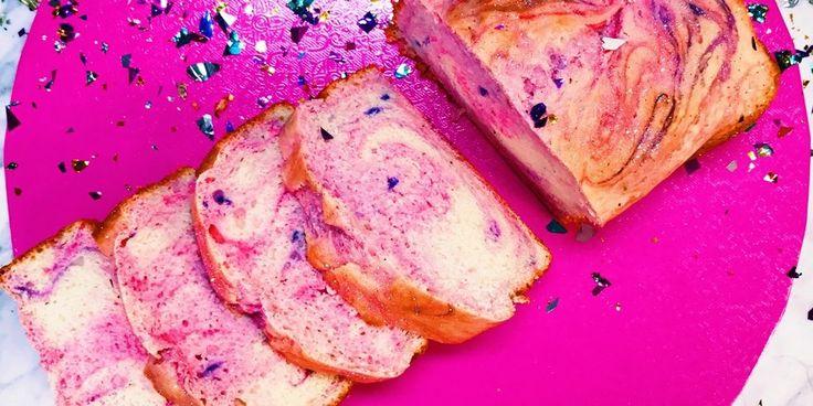 Two-Ingredient Ice Cream Bread - How to Make Unicorn Bread