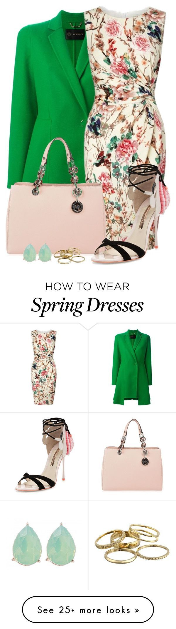 """#451"" by joana-raquel-26 on Polyvore featuring Versace, Lipsy, MICHAEL Michael Kors, Sophia Webster, Kendra Scott, women's clothing, women, female, woman and misses"