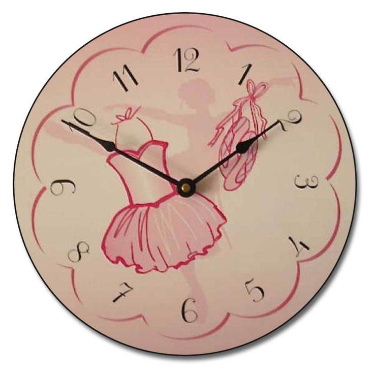 Tutus and Pirouettes Ballerina Kids Wall Clock