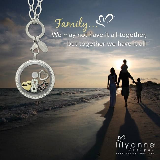 {Family ♥} We may not have it all together, but together we have it all. Have a beautiful Sunday with your family! #LilyAnneDesigns #PersonalisedLockets #Family
