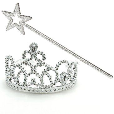 tiara and wand favors (from birthdayexpress.com)