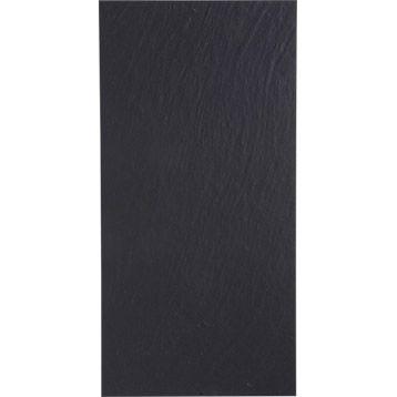 Carrelageintérieur Vesuvio en grès cérame teinté masse, noir, 30 x 60 cm