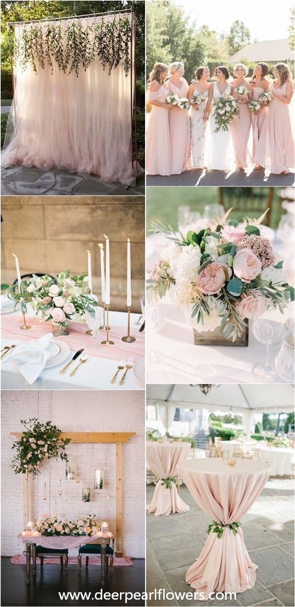 28 Blush Pink and Greenery Wedding Color Ideas