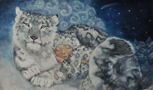 snow leopard onesie by Lupi Lu