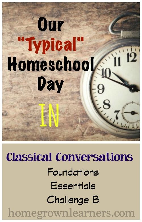 Our Typical Homeschool Day: Scheduling Classical Conversations at Home — Homegrown Learners