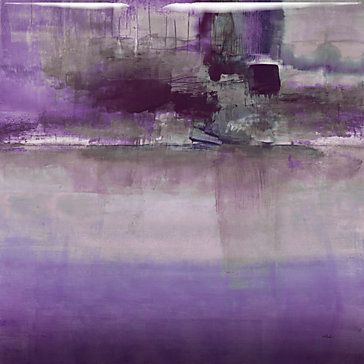 "The striking purple and grey hues in this ""New Hope Plum"" giclee by Randy Hibberd derive from his passion for the majestic mountains of the east."