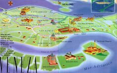 Mapa turístico de Veneza