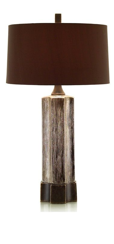 Silver And Bronze Column Lamp Shade 17 X 18 10 Chocolate Brown Base Might Be Too Not Enough Taupe Tall