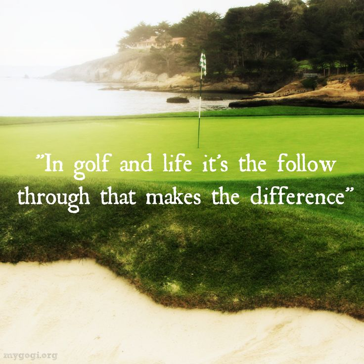 There are so many parallels between golf and life.
