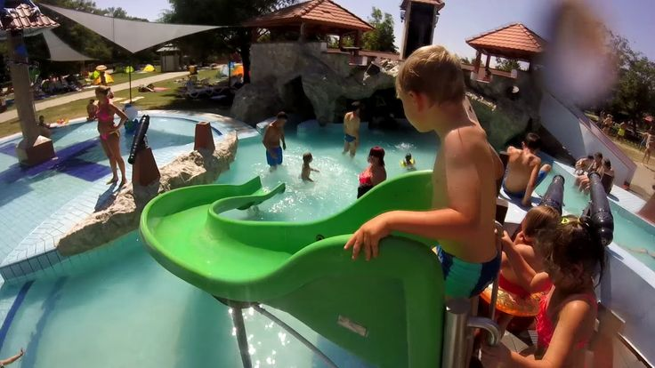 Dragon-themed water playground for kids, adrenalin-fuelled Polin water slides for adults at Sárvár Spa. For full list of available water slides, check out http://bit.ly/2tck8F6