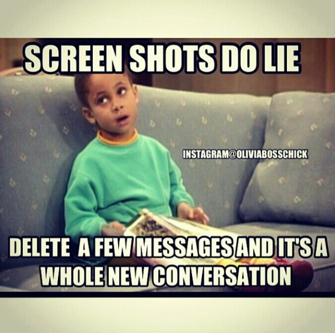 Screen Shots Do Lie. #oliviabosschick #instagram #funny