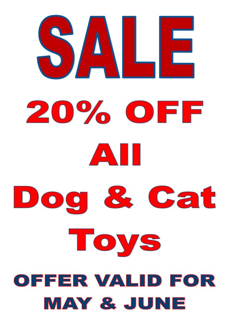 20% off dog