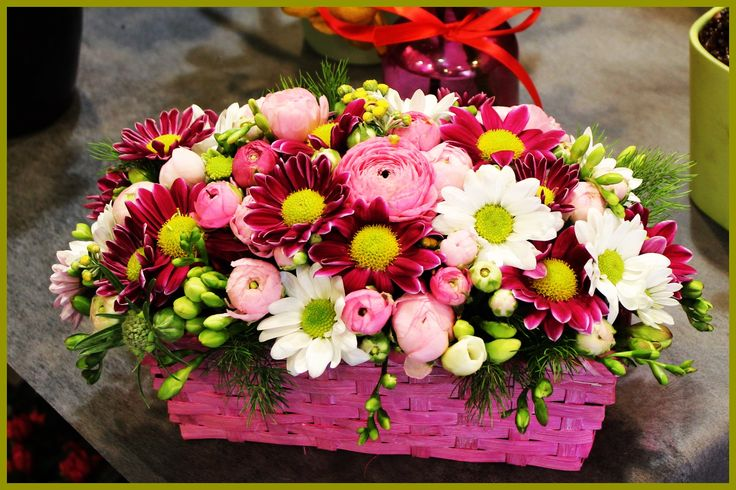 cestino floreale