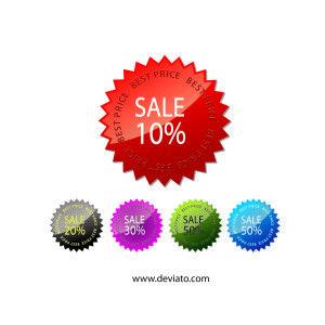 promo sale stickers Vector
