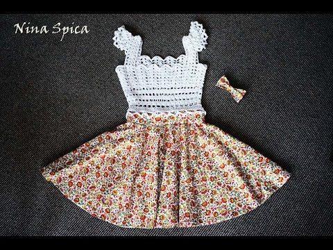 Комбинированное платье крючком (часть 2 из 2)/ Crochet and sew dress - YouTube