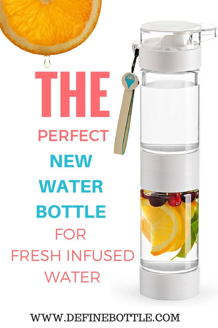 DEFINE BOTTLE - A fun way to get your daily intake of precious water with added fruits.